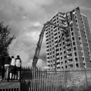 Ballymun Tower demolishing