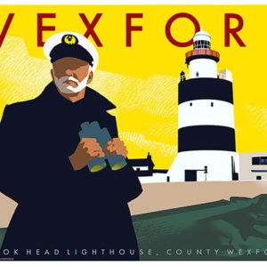 Poster of County Wexford featuring the Hook Head Lighthouse.