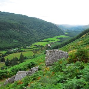 View from Lugnaquilla zig-zag routh Wicklow