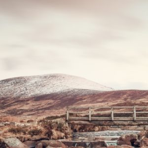 This photograph was taken in the remote wilderness of the snow capped Wicklow mountains.